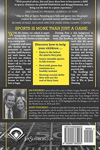 How to Win At Sports Parenting Back Covert